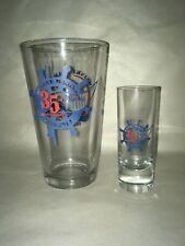 Meinke Marina 35th Anniversary Shot glass and glass - 2 piece set  #9898