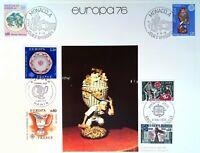 EUROPA 1976 ANDORRE MONACO FRANCE   FEUILLET PHILATÉLIQUE CEF 347