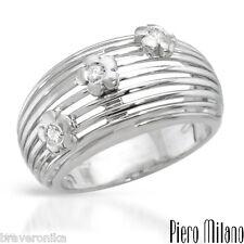 Piero Milano Italy 18k Gold Ring 0.07ctw Super Clean G/VS Diamonds, Size 7. New