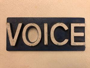 Village Voice Newsstand Newspaper Paperweight Cast Iron Vintage Original