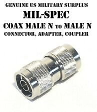 COAX MALE N CONNECTOR CABLE COUPLER ANTENNA ADAPTER HAM RADIO US MILITARY NEW