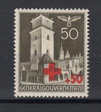 Generalgouvernement  Briefmarken 1940 Rotes Kreuz Mi.Nr.54 ** postfrisch