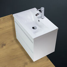 Basin Sink Vanity Unit Cabinet Bathroom Wall Hung Mounted Ceramic Tap 600 mm SQ1