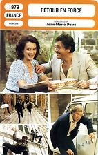 Fiche cinema. movie card. back in force (France) 1979 jean-marie perry