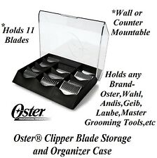 OSTER Clipper Blade STORAGE&ORGANIZER CASE Holder Shelf*Also For Andis,Wahl,Geib