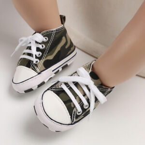 Camouflage PreWalking Trainers Newborn Baby Boy Girl Crib Shoes Infant Sneakers