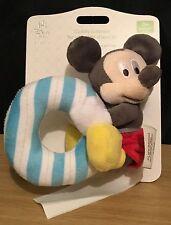 DISNEY Store Bambini Mickey Mouse Peluche anello con sonagli NUOVO CON ETICHETTA