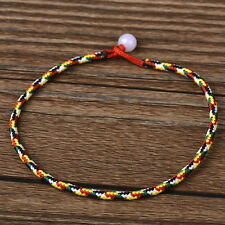 5PCS Tibetan Tibet Buddhism Colors Vajra rope Weaving Amulet Bracelet Wholesale