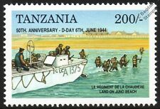 D-Day Canadian Regiment at Juno & LCA Landing Craft Assault Vehicle WWII Stamp