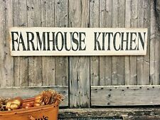 "Large Rustic Wood Sign - ""Farmhouse Kitchen"" - 3 Feet! - Fixer Upper, HGTV, DIY"
