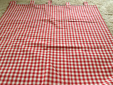 Lovely Laura Ashley Red Gingham Check Tab Top curtains rrp £526 390 cm wide