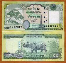 Nepal, 100 Rupees, 2012 (2013), P-New, UNC Everest, Rhino, Buddha overprint