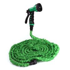 100ft Expanding / Stretch Garden Hose Flexible, Kink Free  8 Function Spray Gun