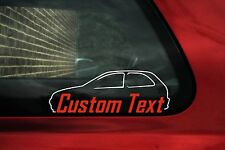 2x Personalizzato Testo Personalizzato, Vauxhall/Opel Corsa B auto adesivi, decalcomanie