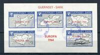 GUERNSEY-SARK EUROPA 1964 SHEET USED