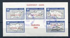 GUERNSEY-SARK EUROPA 1964 SHEET USED