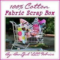 BonEful Fabric 100% COTTON QUILT LOT Child Scrap BOX Kid Disney Baby Girl Scout