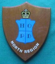 Obsolete Home Office Police Department North Region Oak Crest Plaque Shield.