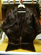 RETRO 1940s Mink Fur Glam Wrap Coat Shawl Wedding