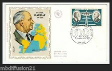 1971//FRANCE-FDC SOIE**AVIATION//D.DAURAT-R.VANIER/OBL.PARIS**TIMBRE.Y/T.PA.46