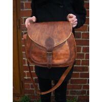 New BIG SALE Women Vintage Brown Leather Messenger Cross Body Bag Handmade Purse
