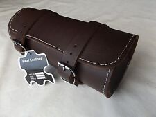 GUARANTEED HIGHEST QUALITY MOTORCYCLE MOTORBIKE LEATHER TOOL ROLL SADDLE BAG TR9