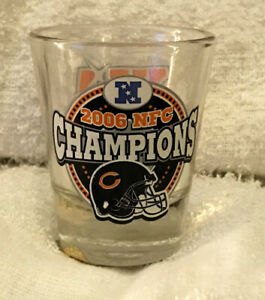 CHICAGO BEARS SUPER BOWL XLI 41 shot GLASS NFC champs