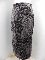 PER UNA skirt Size 12 textured velvet grey brown print Marks and Spencer M&S