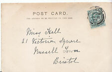 Genealogy Postcard - Family History - Hall - Russell Town - Bristol   BH3341