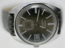 Rare - Union Ancre Tonneau Swiss Hand Wind Men's Wrist Watch - Runs/Keeps Time