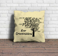 Family tree cushion, Our grandchildren, Personalised Cushion, Personalised gift