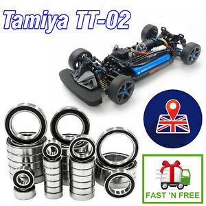 TAMIYA TT-02 16 Piece Set High Quality ABEC 3 RUBBER SEALED BEARINGS Kit