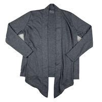 Eddie Bauer Women Medium Open Cardigan Sweater Top Long Sleeve Stretch Gray