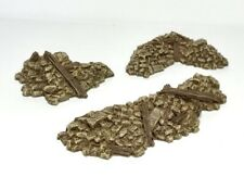 Wargame scenery. Pack Of 6 x 28mm Rubble sections - 28 Wargame Terrain