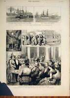 Old Antique Print Crissi Egypt War Portsmouth Daily Telegraph Office 1882 19th