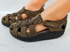Skechers Shape Up Women's Brown Leather Summer Sandal Size 9