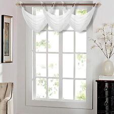 """1PC ELEGANCE WATERFALL SHEER VALANCE WINDOW CURTAIN TREATMENT 55""""W x 24""""L K36"""
