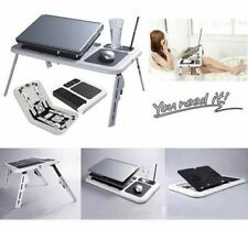 Portable & Adjustable Folding Laptop Table E-Table- Black & White
