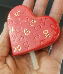 Nora Fleming Retired Red Heart Mini Gold XO NF Initials Rare Hard to Find Flaws
