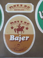 SVENDBORG BREWERY DALLAS BAJER DANISH BEER LABEL