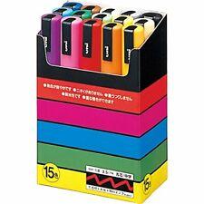 Uni Posca PC5M15C Paint Marker Pen Set - 15 Count