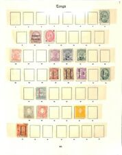 [OP4501] Tonga lot of stamps on 3 pages