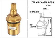 REPLACEMENT BRASS CERAMIC DISC TAP VALVES CC4 QUARTER TURN GLAND INSERT PAIR