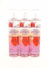Bath Body Works 3 French Lavender & Honey Fragrance Mist Body Splash Spray 8oz