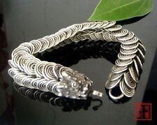 Tribal Tibet silver carved Dragon Handmade bracelet