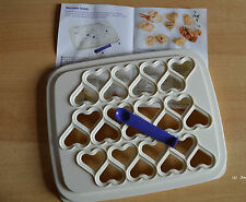 Tupperware petits coeurs-snack, incl. recette idées, comme NEUF! blanc