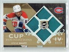 07-08 UD Upper Deck The Cup Foundations  Steve Shutt  /10  Quad Patches  HOF