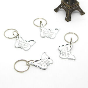 Personalized Butterfly Keychain Wedding Decoration Favour Gift Souvenirs Keyring