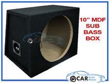 "10"" Recinto Subwoofer Sub Empty MDF nero moquette Boom Bass Box Auto Van Casa"