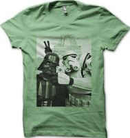 Star Wars StormTrooper  Darth Vader JEDI Selfie Paris YODA green t-shirt 9773